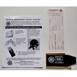Etiquette médicale pour casque