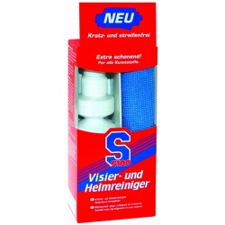 S100 : Nettoyant casque et visière + lavette microfibres - 100 ml