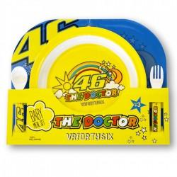 Set assiette et couvert pour bébé - VR46 - Valentino Rossi